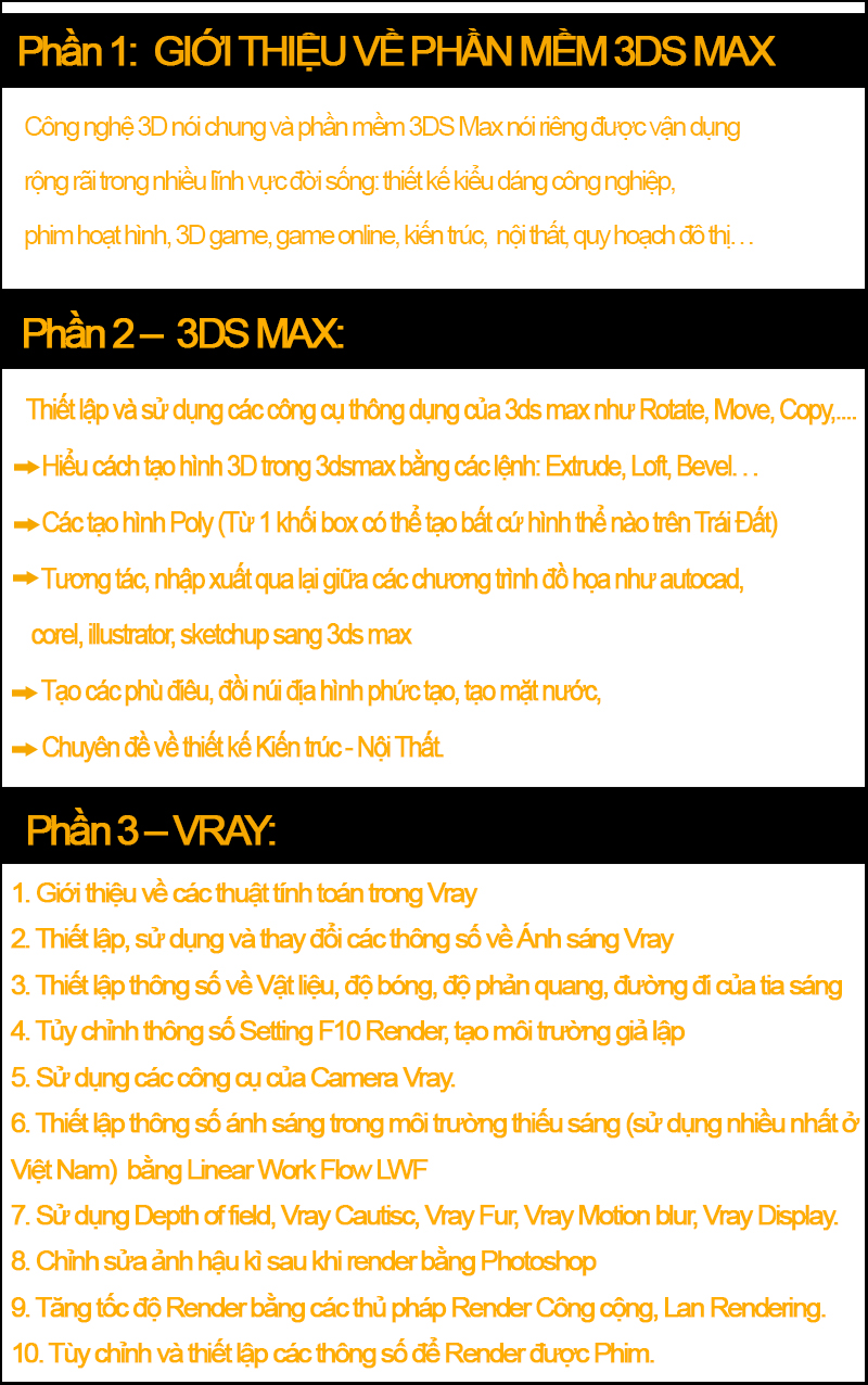 Khóa học 3Ds max tại Quận 8