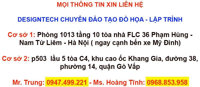 Khóa học indesign ngắn hạn tại Bình Thạnh tphcm
