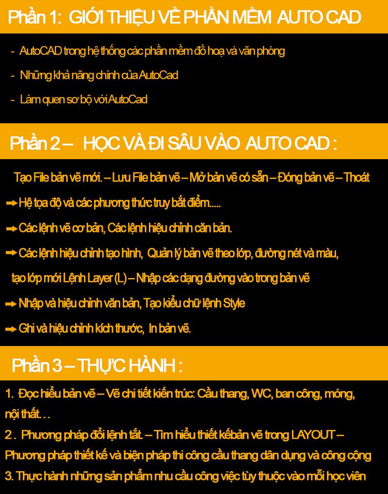 Khóa học autocad tại Thanh Oai