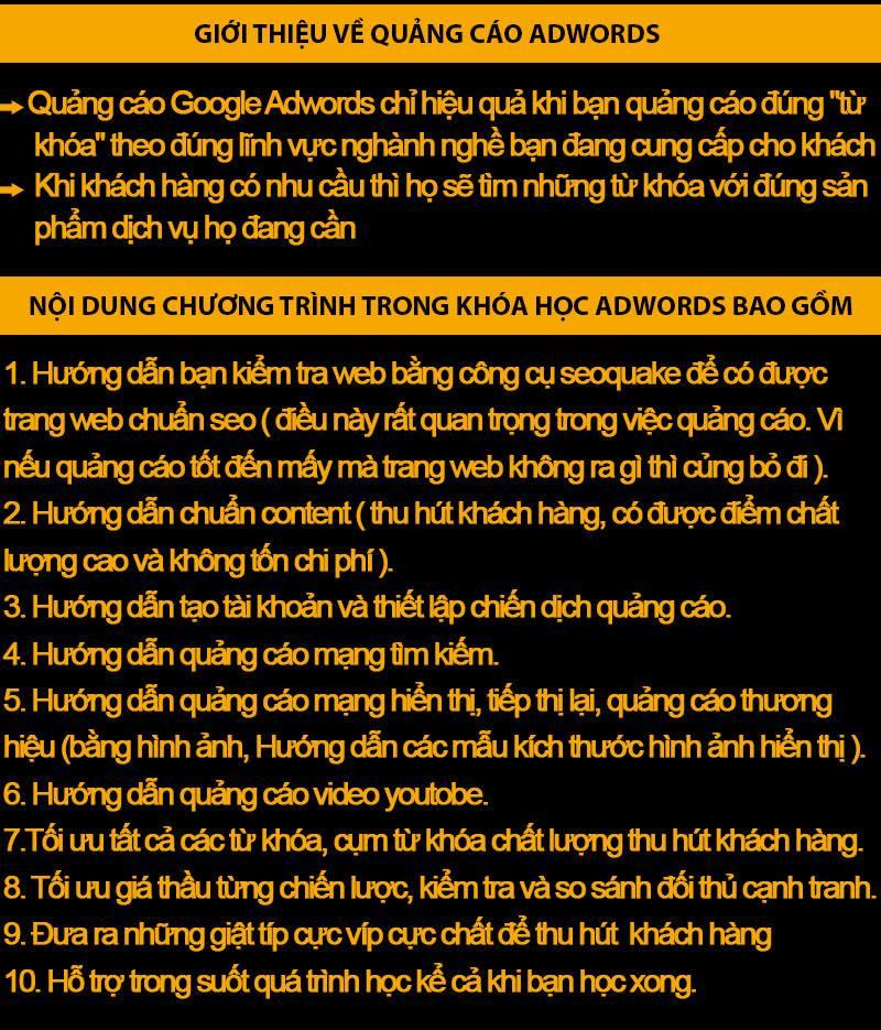 Đào tạo google adwords tại Hoàn Kiếm