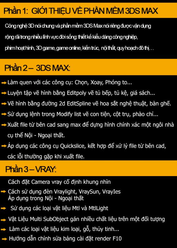 Khóa học dựng hình 3dsmax và vray tại Mê Linh
