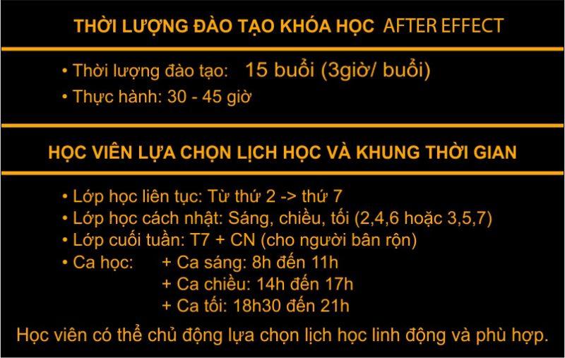 Học after effect thiết kế hiệu ứng kỹ xảo tại Ba Đình Hà Nội